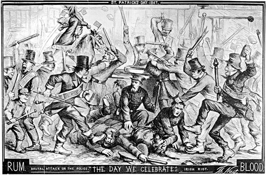 Thomas Nast political cartoon, 1867.