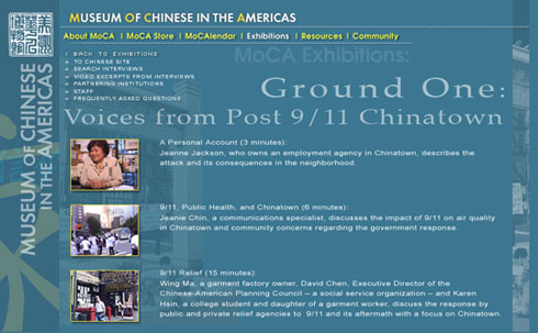Ground One: Voices from Post 9/11 Chinatown