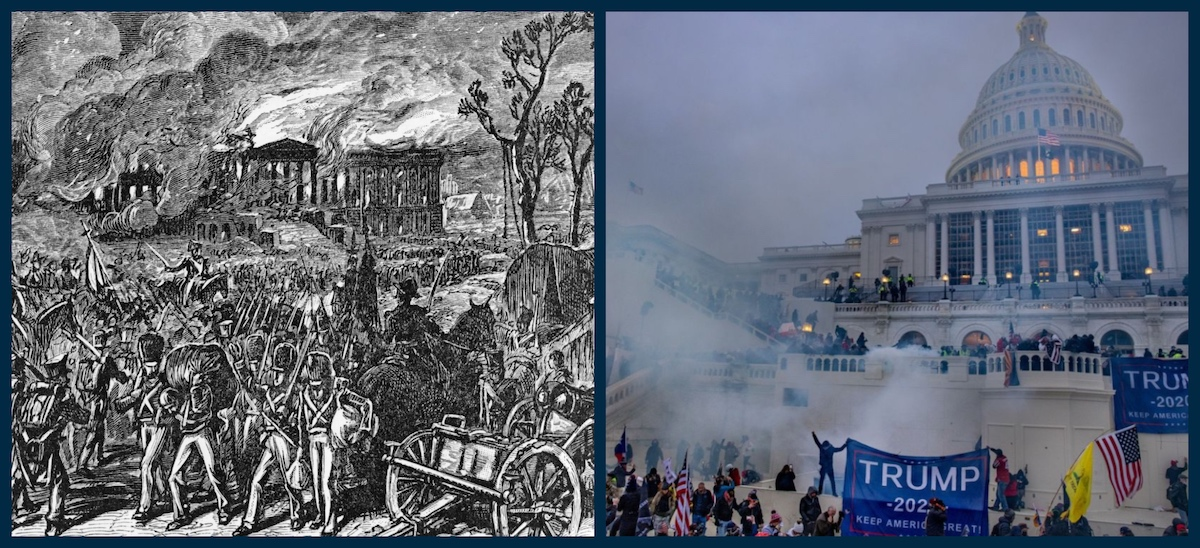 Attacks on the U.S. Capitol, 1814 and 2021