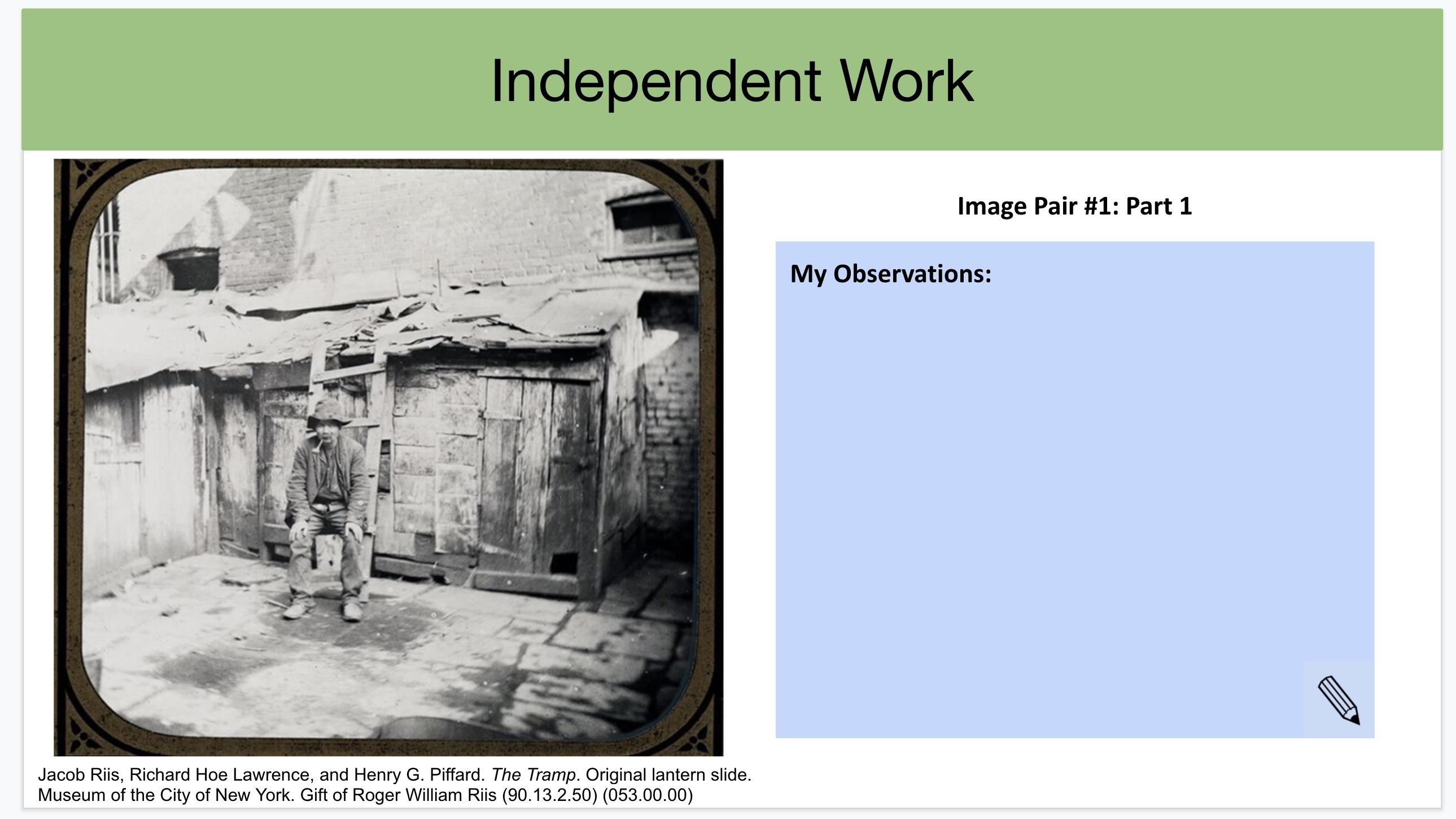 A slide from a lesson on the Progressive Era
