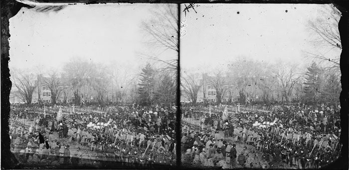 Lincoln's inauguration, March 1865