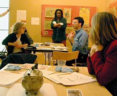 Learning to Look teachers participate in a workshop