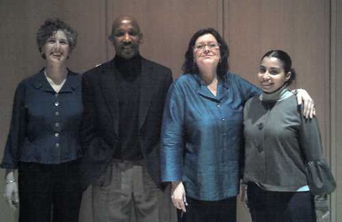 Recovering Community History panelists Marci Reaven, Craig Wilder, Lillian Jimenez, and Madeleine Lopez