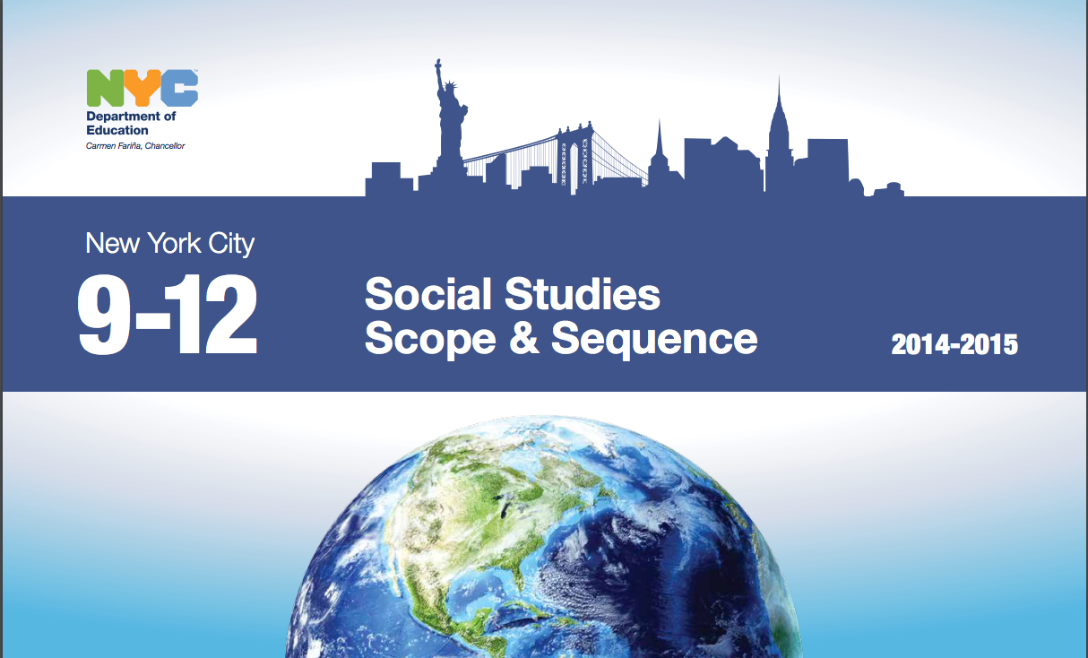 Cover of New York City Department of Education Scope and Sequence for Social Studies, Grades 9-12