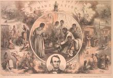 images of African American celebrating emancipation from slavery